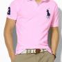 Camisa Polo Ralph Lauren Masculina rosa claroClaro com Bordado Preto