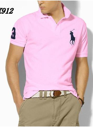Camisa Polo Ralph Lauren Masculina rosa claroClaro com Bordado Preto 2994b3b8821