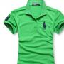 Camisa Polo Ralph Lauren Verde  Bordado Preto