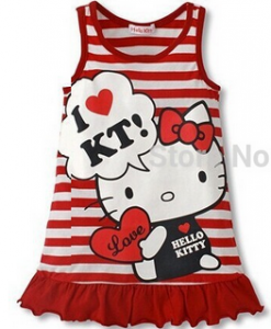 Vestido infantil  da Hello Kitty 1png