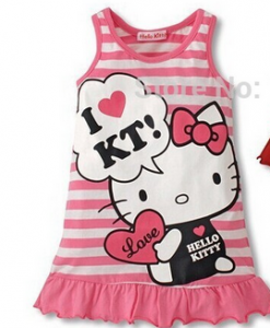 Vestido infantil  da Hello Kitty png
