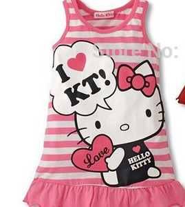 Vestido infantil  da Hello Kitty png
